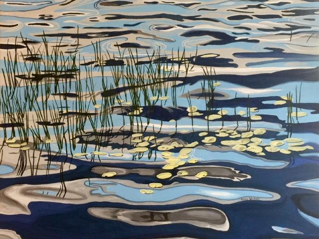 """""""Lazy Lagoon"""" acrylic by Marlane Wurzbach"""