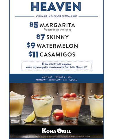 Kona Happy Hour- Margarita Heaven