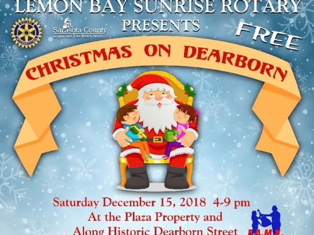 "Lemon Bay Sunrise Rotary Presents ""Christmas on Dearborn"""