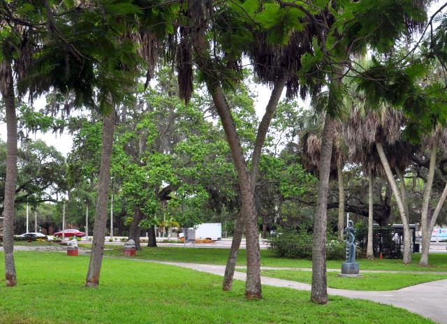 Lukewood Park North - Fountain, historic marker & walking paths.