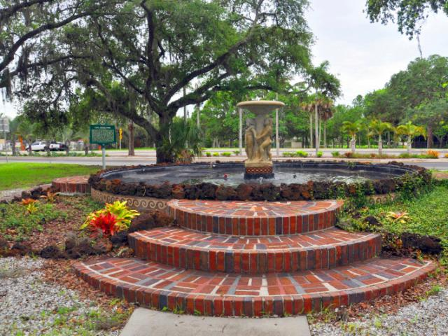 Mable Ringling Memorial Fountain - Fountain, historic marker & walking paths. Home to the Mable Ringling Memorial Fountain. Built in memory of Mable Ringling, John Ringling's wife. She was the first president of the Sarasota Garden Club. Allows leashed dogs.