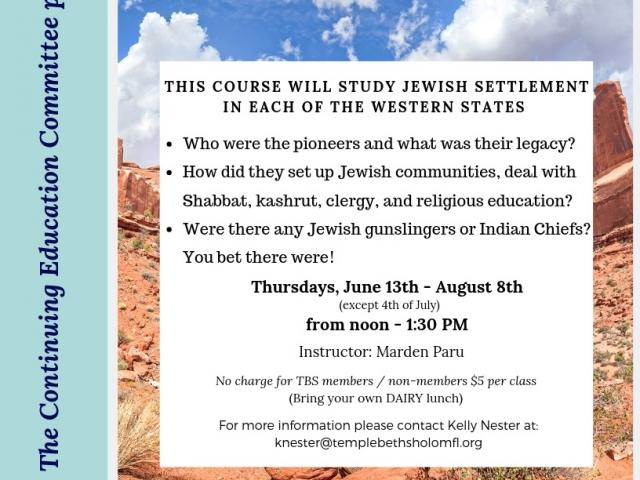 Lunch & Learn: Jews Move Out West
