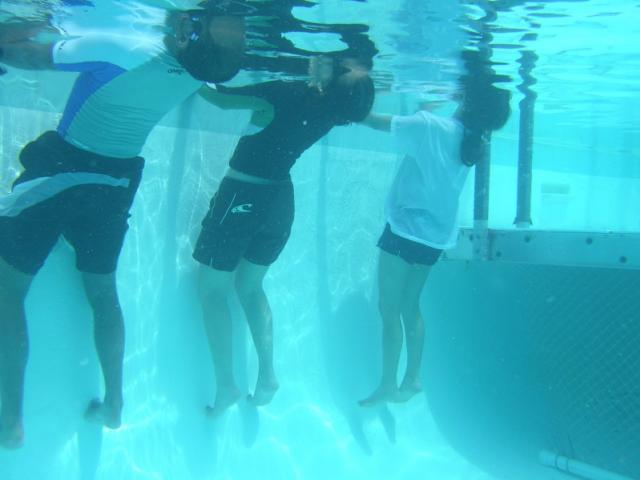 3 learning back float - Yes, you float in deep water, too. Learn the non-scary way!