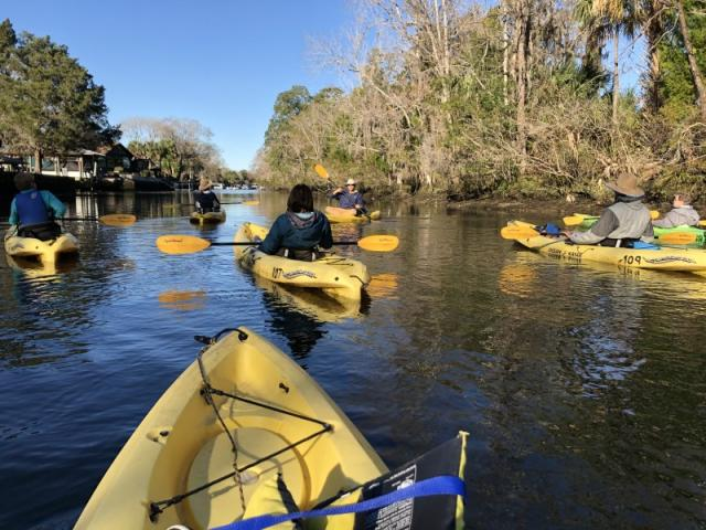 Crystal River Kayaking Day Trip - This is a small group tour of nor more than 10 persons. We will have our own expert personal guide at the Crystal River, along with a driver-guide who is a native of Sarasota for 28 years. We'll have about 2 hours of kayaking and get to see the Manatees in the Spring fed 72-degree water of the Crystal River. Afterward, we'll enjoy lunch at a spectacular seafood restaurant and event stop at the Twistee Treat on the way home. The Van is a 2017 Ford Transit Wagon and is very clean and comfortable.