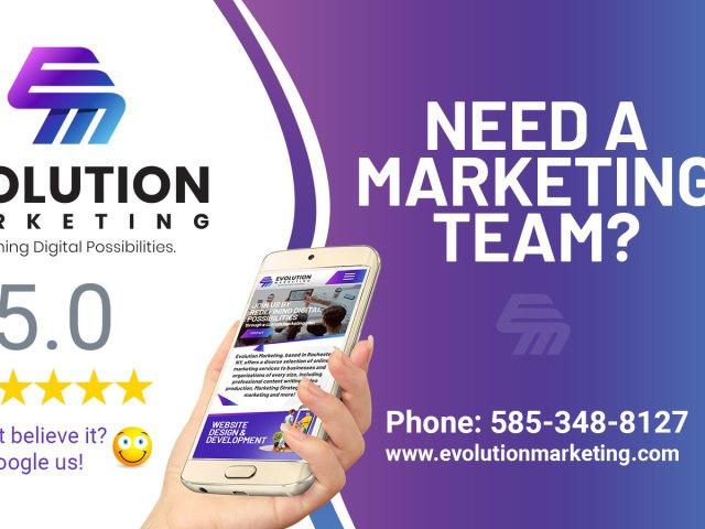 Need a 5 Star Rated Web & Marketing Team?