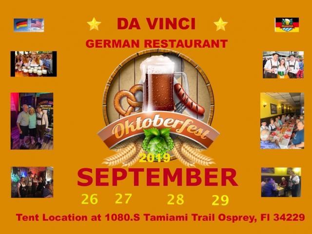 Oktoberfest 2019 Sarasota Da Vinci German Restaurant