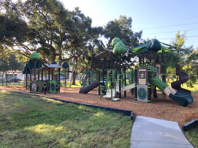 Pioneer Park Playground - Enjoy the tree-top inspired playground!