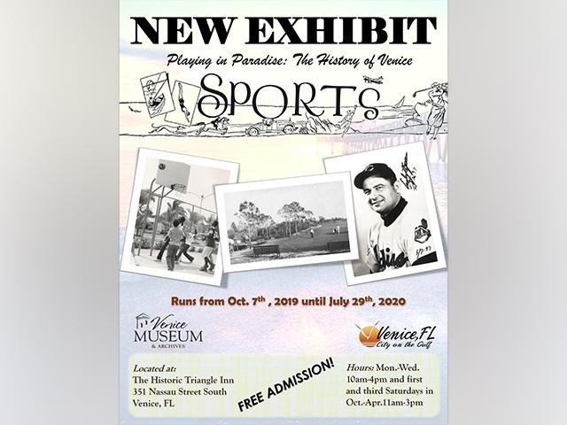 Playing in Paradise: The History of Venice Sports Exhibit