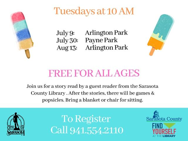 Popsicle Stories in the Park!
