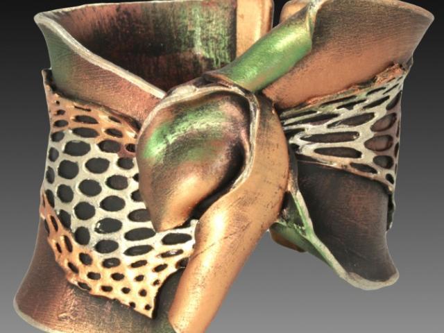 """Olivia Rose"" cuff bracelet by jeweler Jean Houndsome"