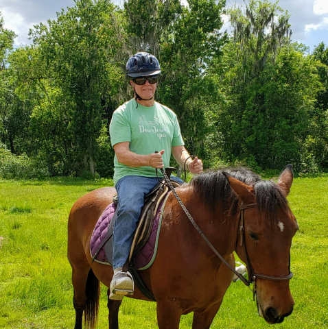 Tank, our mustang - Our horses are calm and gentle, great for beginners, both youth and adult.