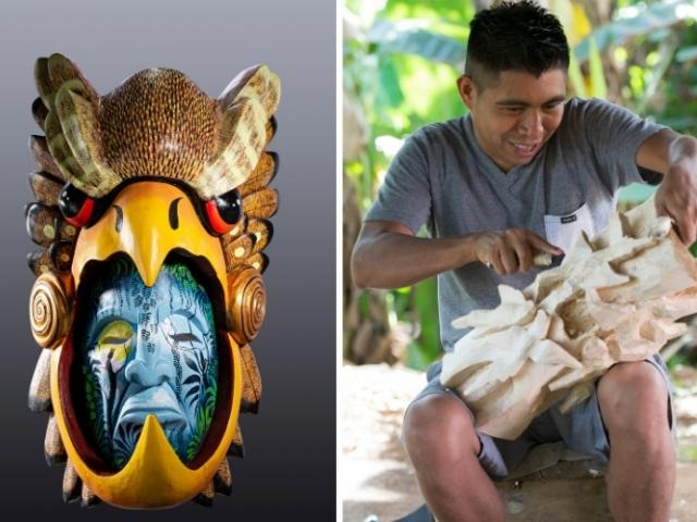 Rainforest Mask Exhibit at Selby Gardens