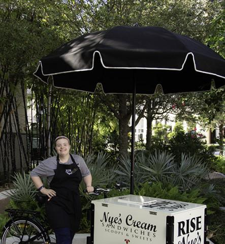 Rise & Nye's catering tricycle. - Rise & Nye's catering tricycle, Miss Maxine, driven by Kelley!