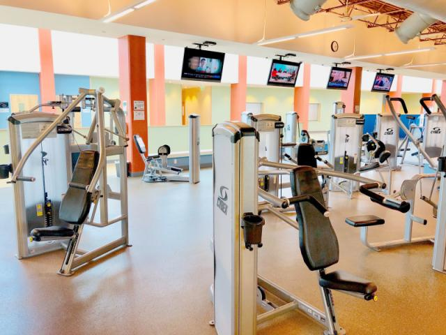Fitness Center - The Fitness Center has Cybex Machines for a safe and effective workout, Free Weights for advanced lifters and plenty of Aerobic and Abs machines to finish the perfect routine.