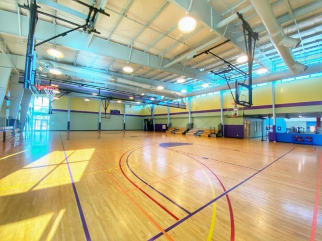 Gymnasium - Hosts leagues, clinics, rentals and is a major piece for our members to enjoy daily.