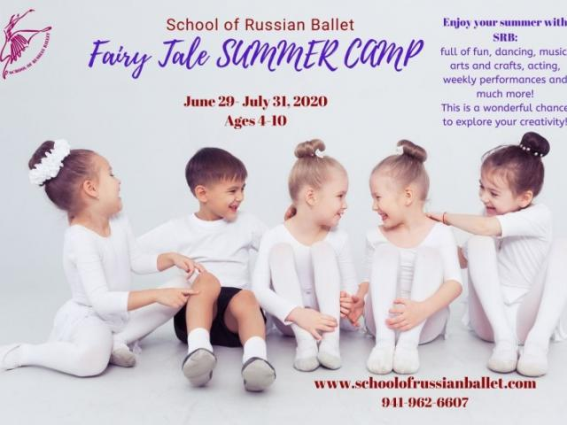 Fairy Tale Summer Camp for ages 4-10 - Explore creativity, movement, and crafts at School of Russian Ballet Fairy Tale Summer Camp this July