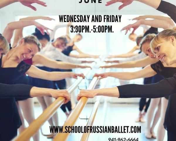 Adult Ballet Classes at School of Russian Ballet - Join us in our spacious studio or via Zoom - explore adult ballet classes at School of Russian Ballet