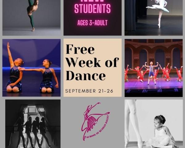 Free Ballet Week - Free week of classes from School of Russian Ballet  - call us (941) 962-6607 for details