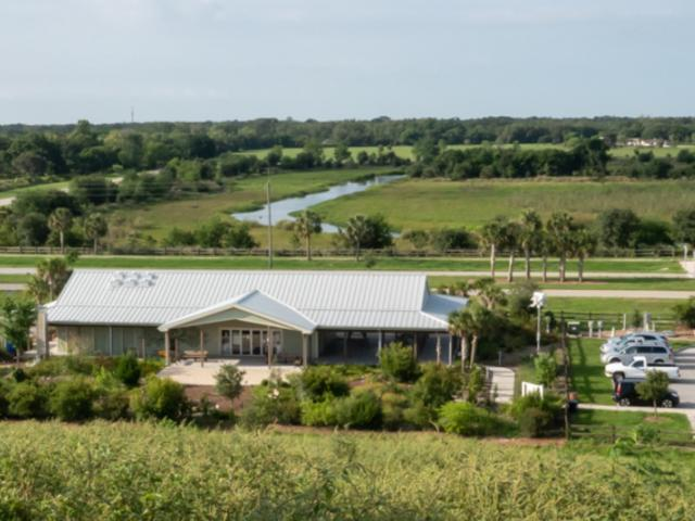 Sarasota Audubon Society Nature Center at the Celery Fields - Looking down from the Celery Fields hill towards Palmer Boulevard and the South Cells.