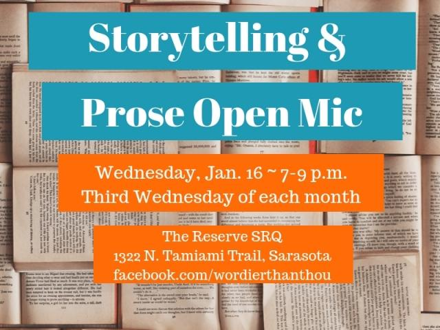Sarasota Storytelling & Prose Open Mic