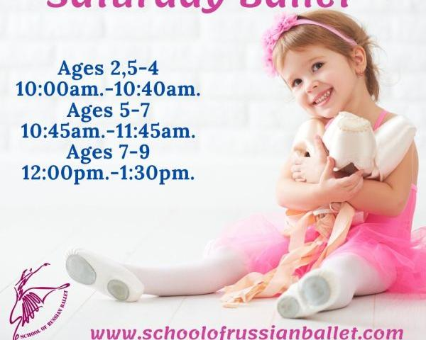 Children Summer Saturday Ballet - Join School of Russian Ballet  for introductory ballet  lessons this Summer on Saturdays