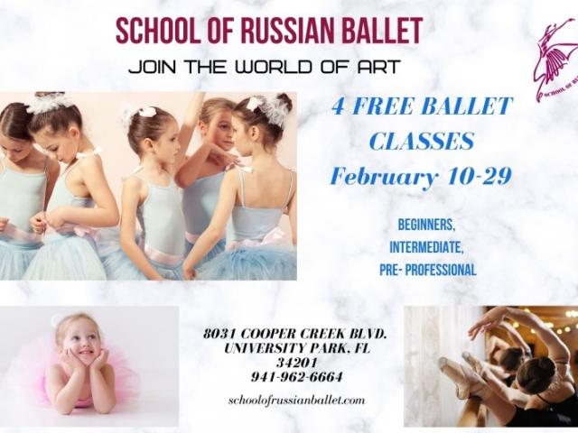 Free Ballet Classes - Try classical ballet classes in February - 4 free classes in February for all ages from School of Russian Ballet UTC area