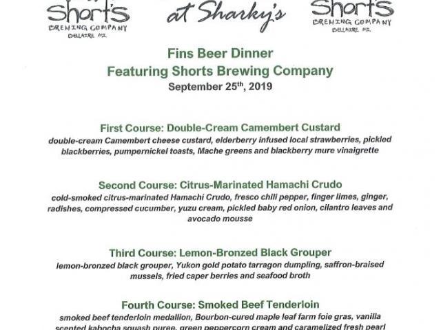 Shorts Brewing Beer Dinner