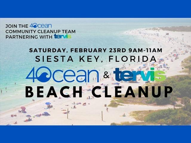 Siesta Key Beach Cleanup w/ Tervis
