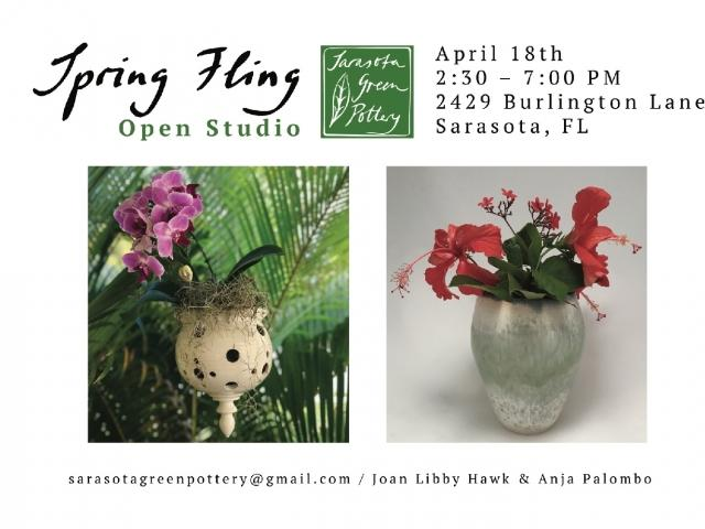 Spring Fling Ceramics Show, Sarasota Green Pottery, April 18