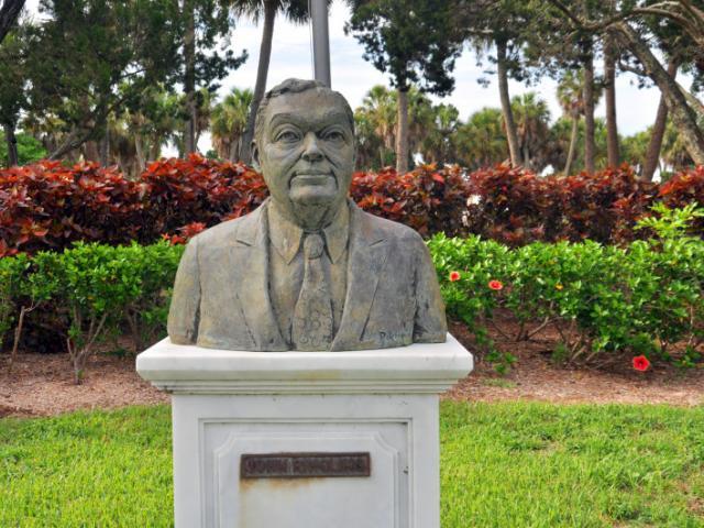John Ringling - A bronze sculpture of John Ringling by Tony Lopez.