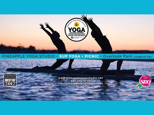 SUP Yoga + Picnic at Overlook Park, Longboat Key Aug 26