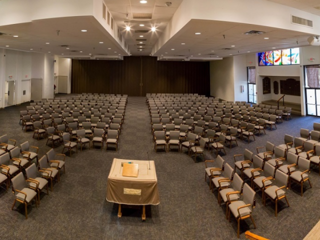 Sanctuary - Temple Beth Sholom's spacious and peacful sanctuary