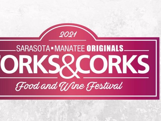 forks and corks event graphic