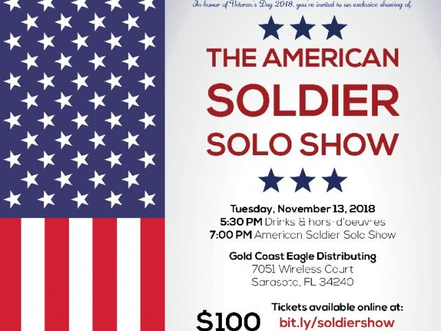 The American Soldier, A Solo Show & Fundraiser for Harvest House