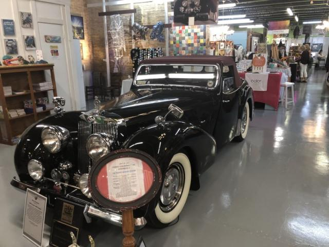 1940's Triumph - not for sale! - Found in the middle of The Bazaar! Nope, we aren't selling it!