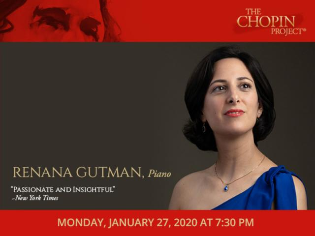 Chopin Project pianist, Renana Gutman, Monday, January 27, 2020 at 7:30 PM - Chopin Project pianist, Renana Gutman will perform Monday, January 27, 2020, at 7:30 PM at the Church of the Redeemer, 222 S Palm Avenue, Sarasota FL 34236