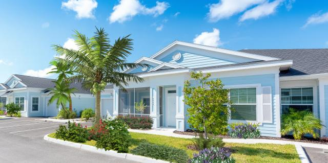 Single-Level Villa Living - The Floridian Club of Sarasota offers a unique single level Villa living layout - without the hassles of ownership!