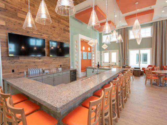 The High Tide Hangout - The Floridian Club's BYOB bar and club space - perfect for entertaining, watching sports games, and socializing!