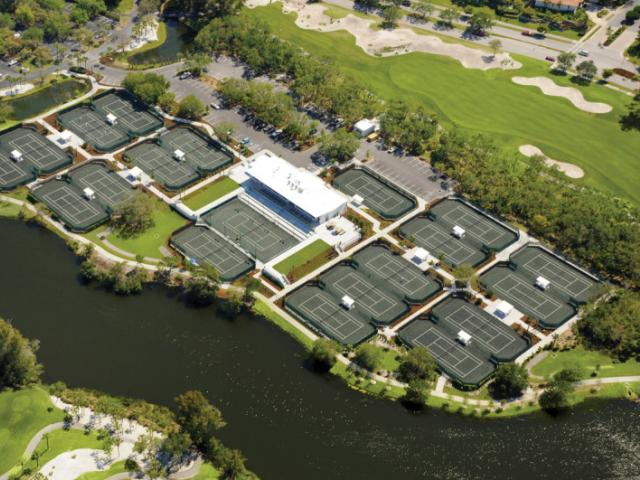 The Tennis Gardens - 20 Har-Tru Courts at The Tennis Gardens on Harbourside
