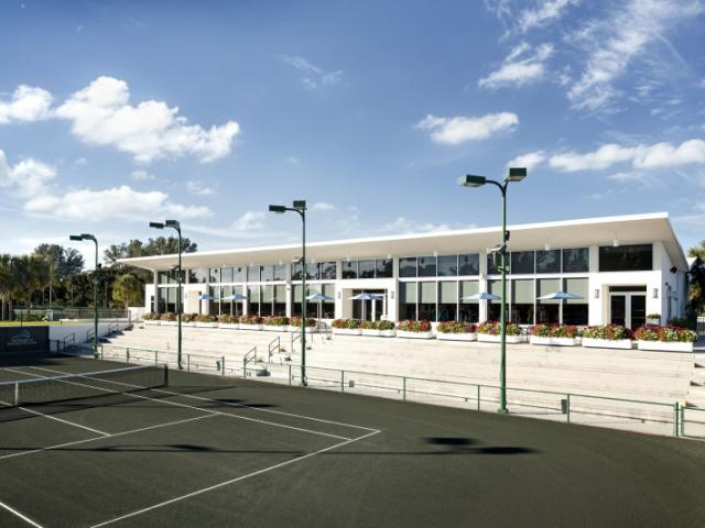 The Tennis Gardens - Tennis Gardens Pro Shop overlooking center court