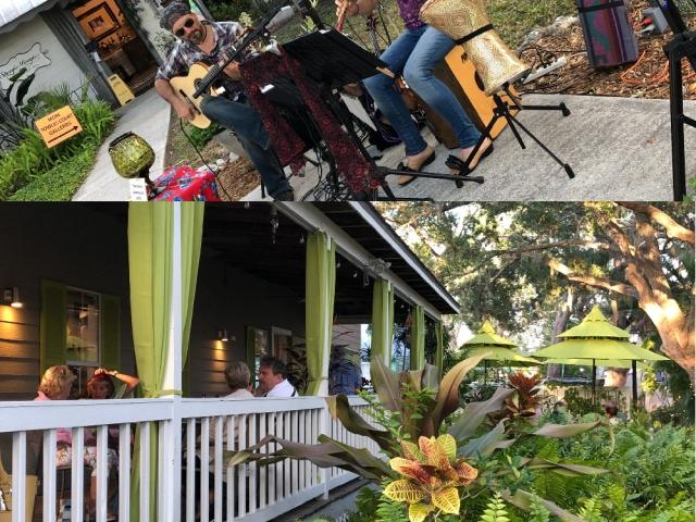 Towles Court Artist Colony  Porch Dining