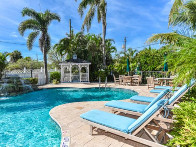 Resort-Pool-1 - With 2 resort pools, guests have plenty of ways to enjoy the Florida Sunshine. In addition, we also have one additional pool for a private resort room, so only guests of that residence can enjoy their own backyard oasis.
