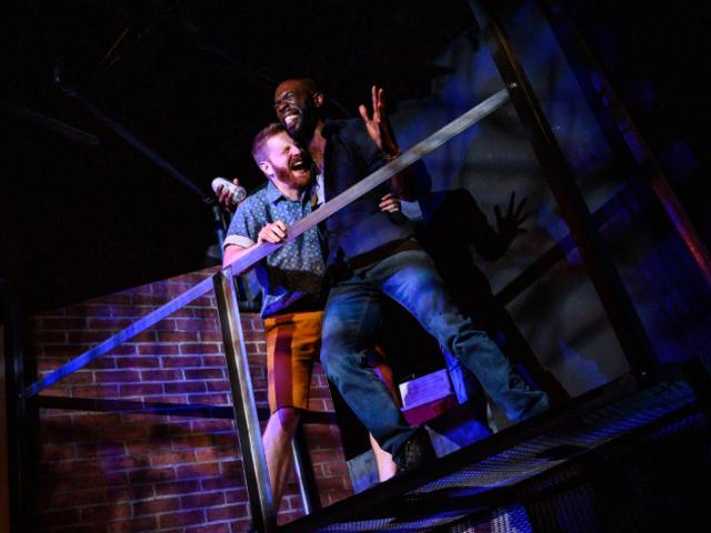 SENDER at Urbanite Theatre - An image from SENDER by Ike Holter. Photo by Dylan Jon Wade Cox.