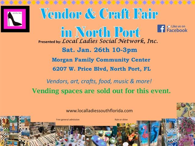 Vendor & Craft Fair in North Port- Jan 26, 2019