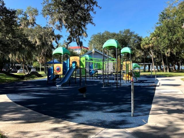 Whitaker Park Playground - The park has a restroom, playground, swing-set, picnic tables, and trails.
