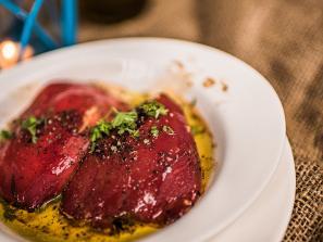 Plate of food from Blu Kouzina restaurant in sarasota florida