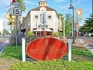 Burns Court in Downtown Sarasota