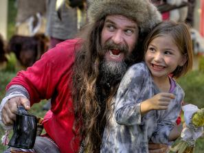 Viking and Child at the Sarasota Medieval Fair