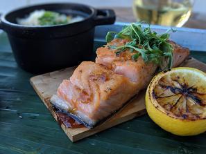 smoked salmon filet from brick's smoked meats in sarasota florida