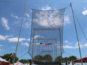 empty trapeze park in venice florida